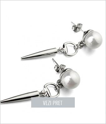 Cercei Clara cu perle