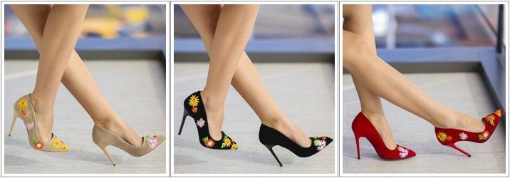 Pantofi brodati Suni