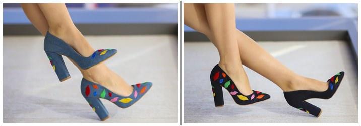 Pantofi brodati Lips