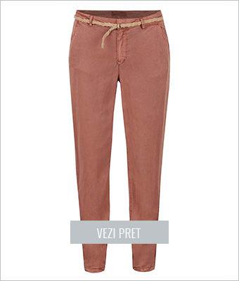Pantaloni chino rosu caramiziu Vero Moda