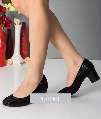 Pantofi dama Solano negri
