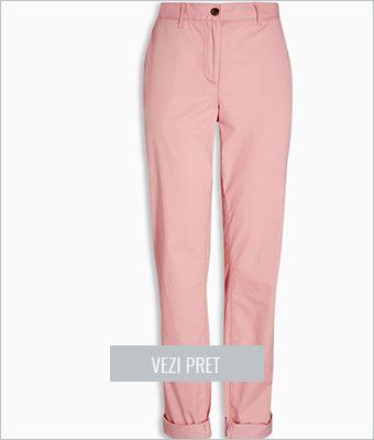 Pantaloni chino roz femei Next
