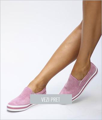 Pantofi slip-on Tokio roz