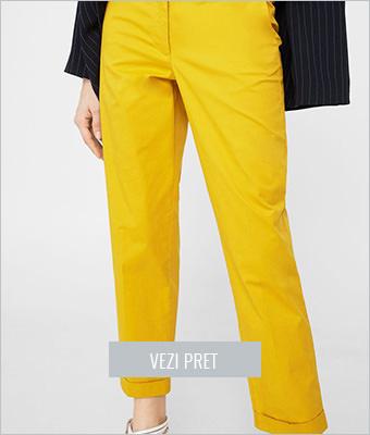 Pantaloni chino crop Mango