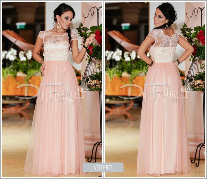 Rochie Princess roz de banchet