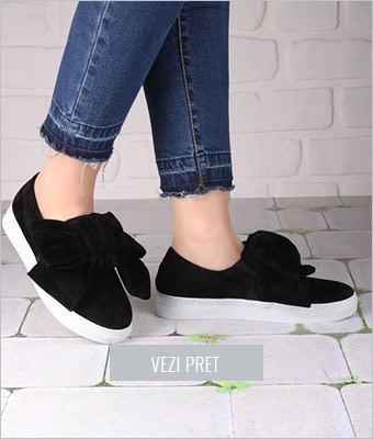 Pantofi casual Incetopuk negru catifea