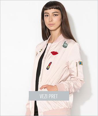 Jacheta bomber roz Zee Lane