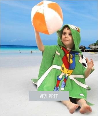 Prosop plaja copii cu gluga