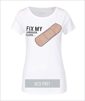 Tricou alb Zoot Original Fix me
