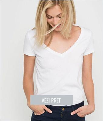 Tricou R Essentiel alb