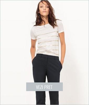Tricou Atelier R alb