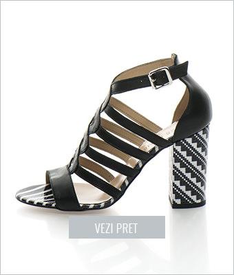 Sandale negre Zee Lane