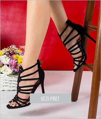 Sandale Garrido negre cu toc