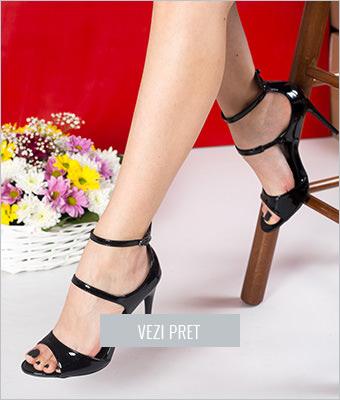 Sandale Alidia negre cu toc