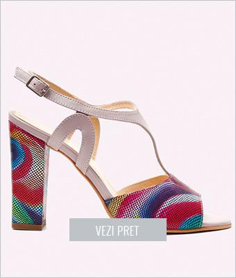 Sandale dama piele cu toc Tiara