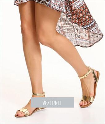 Sandale Top Secret aurii