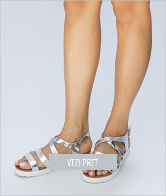 Sandale Favor argintii