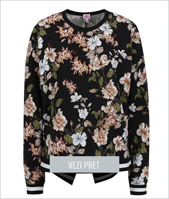 Hanorac Negru Juicy Couture cu imprimeu floral