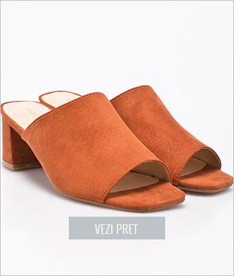 Papuci Parfois cu toc gros mediu
