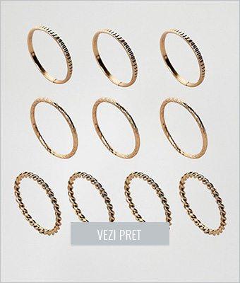 Set 10 inele minimaliste