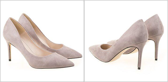Pantofi stiletto bej Mia