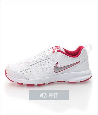 Adidasi albi pentru antrenament T Lite XI Nike