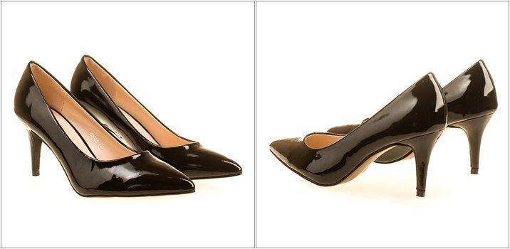 Pantofi stiletto cu toc mediu Ana