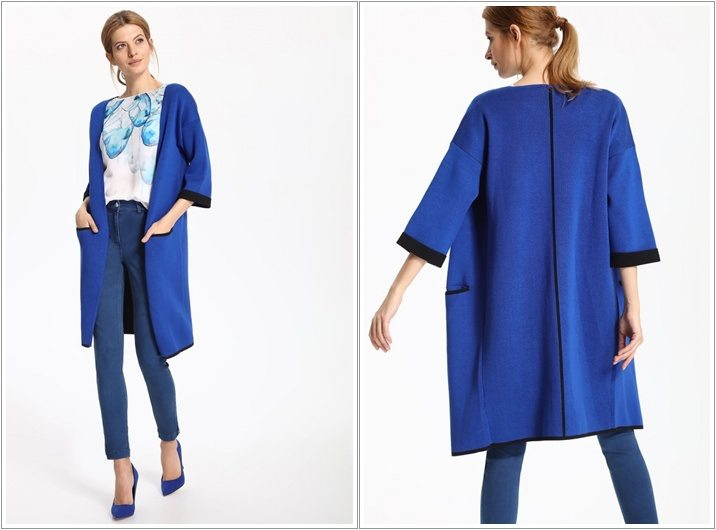 Cardigan dama Top Secret bleumarin