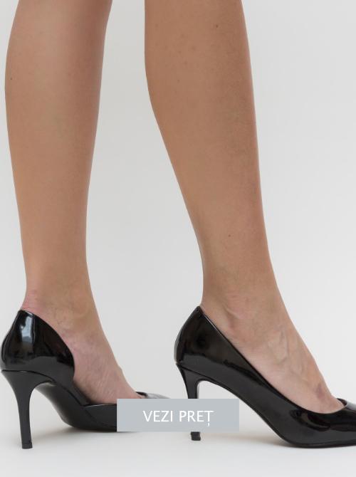 Pantofi Pastel negri