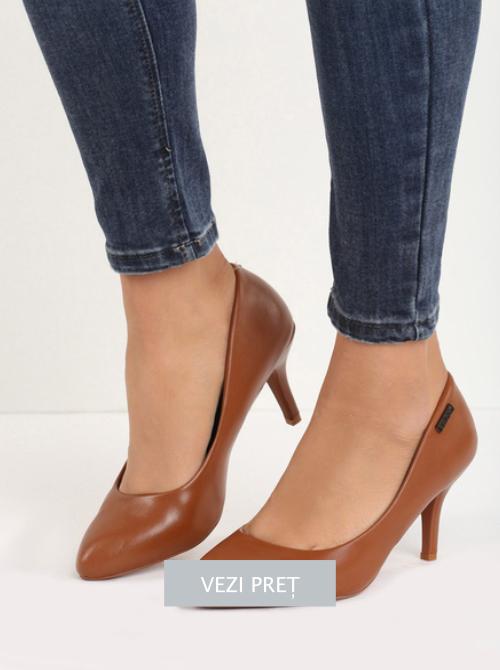 Pantofi cu toc Select camel