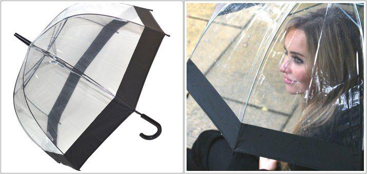 Umbrela transparenta pentru femei Clear Domes