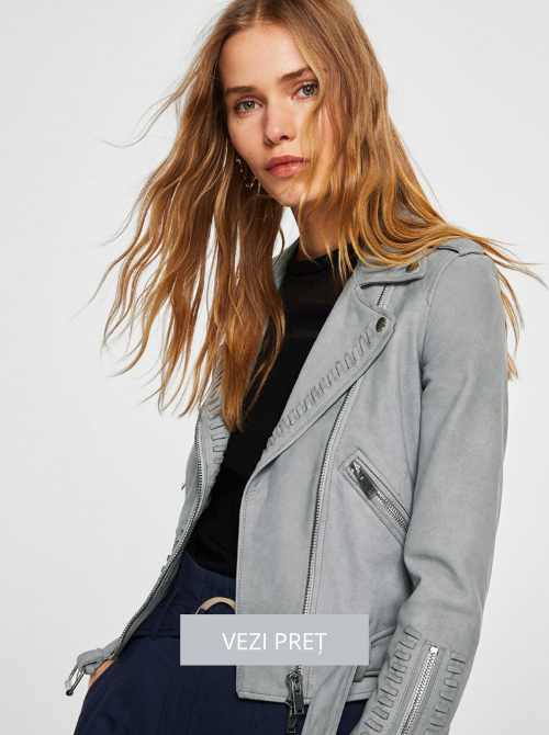 Jacheta biker Mango din piele pentru femei