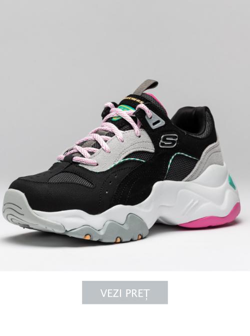 Adidasi cu talpa platforma Skechers