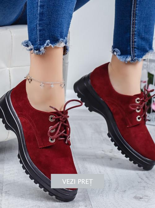 Pantofi tip Oxford Demelo cu talpa lata
