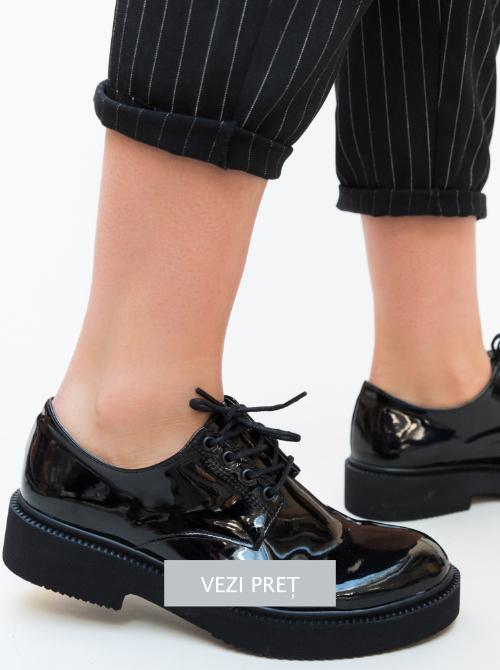 pantofi masco negri tip oxford