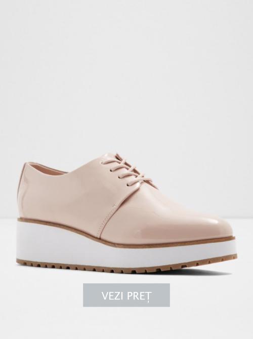 Pantofi Aldo roz cu talpa platforma