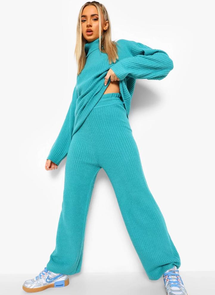 set-compleu-bluza-pantaloni-tricot