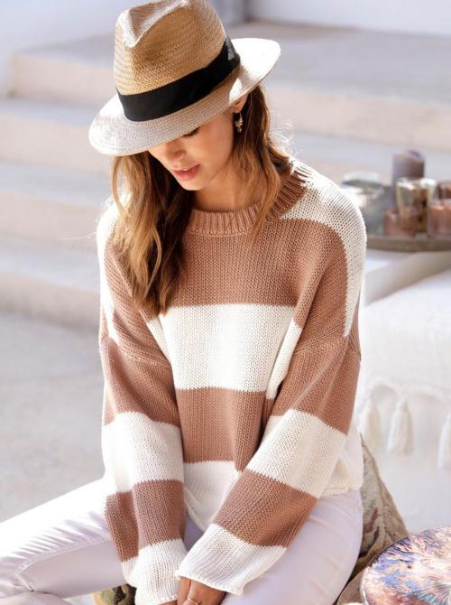 pulover cu dungi Lascana