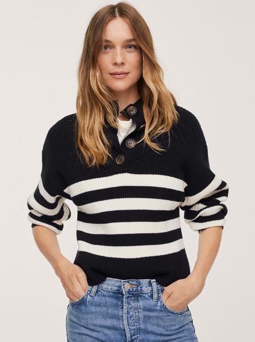 pulover cu dungi Mango